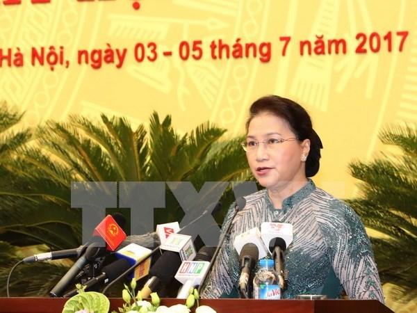 Consejo Popular de Hanoi analiza situacion socioeconomica de la capital hinh anh 1