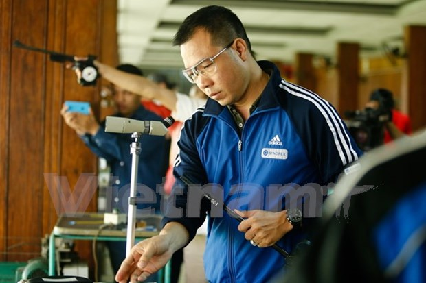 Tirador vietnamita lidera ranking mundial en pistola de aire de 10 metros hinh anh 1