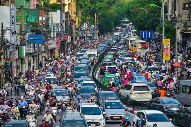 Ha Noi aprueba plan para aliviar congestion del transito urbano hinh anh 1