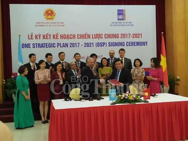 Vietnam y Naciones Unidas rubrican nuevo plan estrategico conjunto hinh anh 1