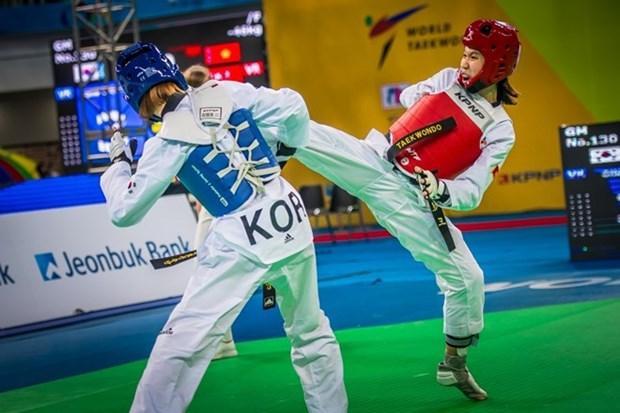 Taewondista vietnamita gana medalla de oro en Sudcorea hinh anh 1
