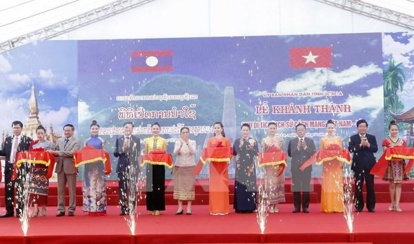Inauguran sitio de reliquias historicas revolucionarias Vietnam-Laos hinh anh 1