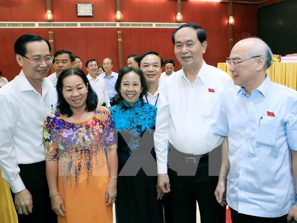 Presidente vietnamita ratifica ante electores compromiso con lucha anticorrupcion hinh anh 1