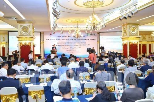 Parque Industrial Hoa Lac busca captar mas inversiones de Sudcorea hinh anh 1