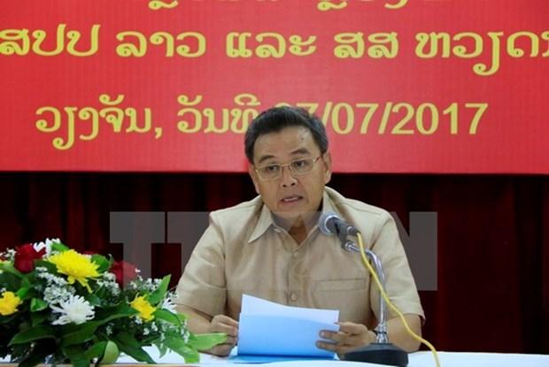 Alto funcionario de Lao saluda contribuciones de comunidad vietnamita hinh anh 1