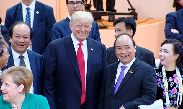 Premier vietnamita se reune con lideres mundiales en Cumbre del G20 hinh anh 1