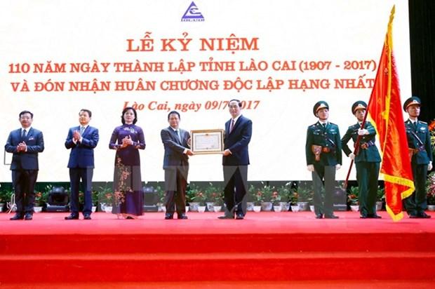 Presidente exhorta a Lao Cai a aprovechar ventajas para desarrollo sostenible hinh anh 1