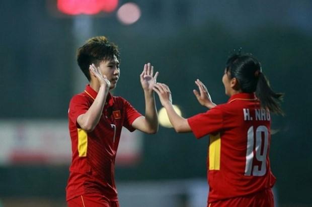 Seleccion femenina de futbol de Vietnam buscara disputar la final de SEA Games 29 hinh anh 1