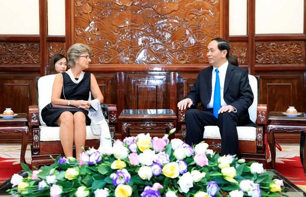 Presidente Dai Quang: Vietnam atesora los lazos con Espana hinh anh 1