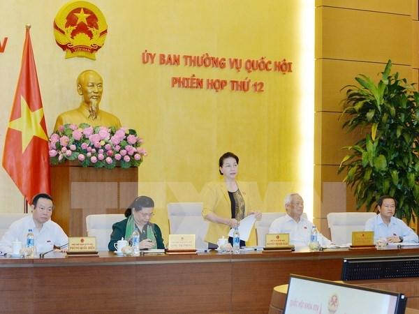 Comite Permanente del Parlamento vietnamita concluye su duodecima reunion hinh anh 1