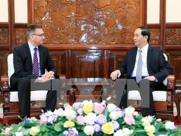 Presidente de Vietnam aplaude propuesta de Finlandia de establecer asociacion estrategica en diversos sectores hinh anh 1