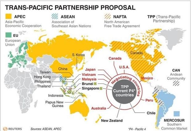 Deciden en Japon continuar el TPP sin Estados Unidos hinh anh 1