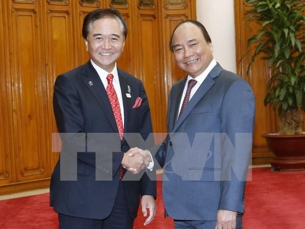 Premier de Vietnam recibe al gobernador de prefectura japonesa de Kanagawa hinh anh 1