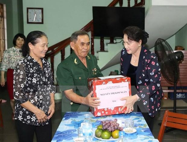 Presidenta del Parlamento vietnamita revisa situacion socioeconomica de Quang Ngai hinh anh 1