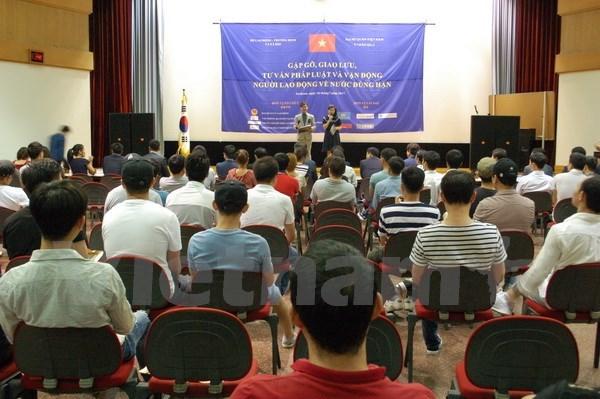 Ofrecen asesoramiento legal a trabajadores vietnamitas en Sudcorea hinh anh 1