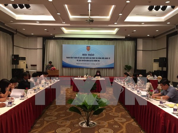 Vietnam perfecciona informe sobre cumplimiento de derechos civiles y politicos hinh anh 1