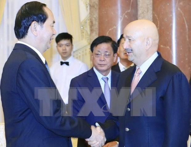 Presidente de Vietnam recibe a expresidente mexicano Carlos Salinas de Gortari hinh anh 1