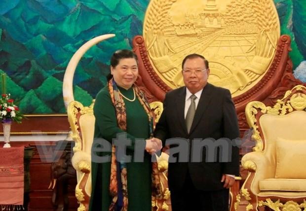 Dirigentes de Laos y Vietnam manifiestan satisfaccion por avance de nexos bilaterales hinh anh 1
