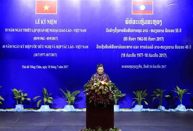 Efectuan acto conmemorativo por aniversario de nexos amistosos Vietnam- Laos hinh anh 1