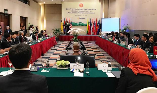 Paises de la ASEAN debaten cooperacion en materia de propiedad intelectual hinh anh 1