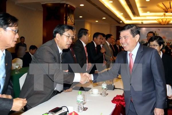 Ciudad Ho Chi Minh robustece relaciones con provincias centrales laosianas hinh anh 1