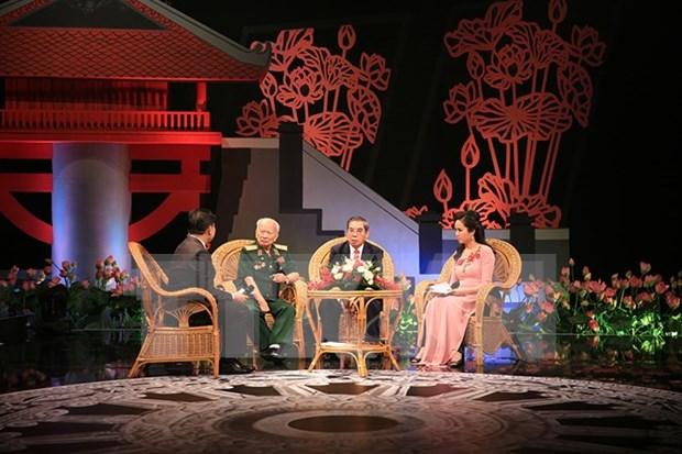 Transmiten en directo programa televisivo sobre relaciones entre Vietnam y Laos hinh anh 1