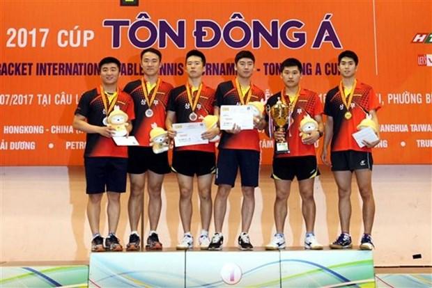 Sudcorea y Tailandia triunfan en torneo de tenis de mesa en Vietnam hinh anh 1