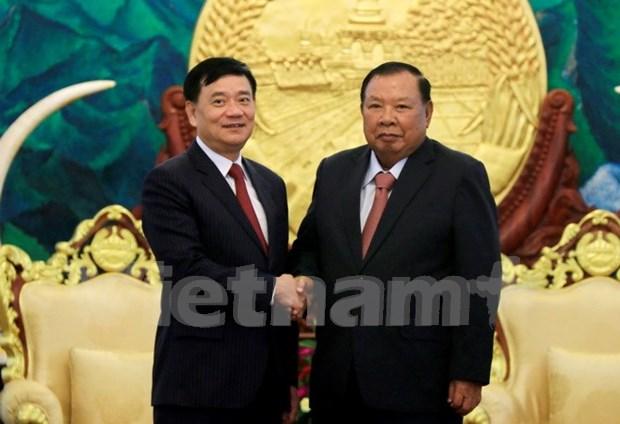 Dirigente laosiano destaca rol de Asociacion de Amistad Vietnam – Laos hinh anh 1