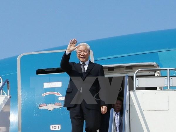 Maximo dirigente partidista vietnamita inicia visita estatal a Camboya hinh anh 1