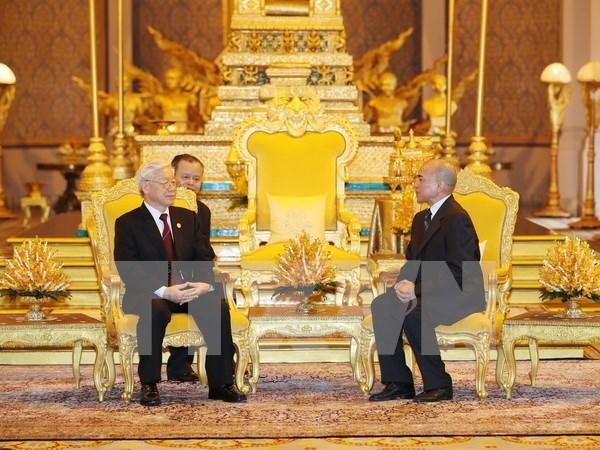 Destacan fortaleza de nexos Vietnam- Camboya hinh anh 1