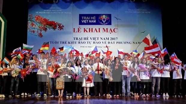 Inauguran Campamento de Verano Vietnam 2017 para coterraneos jovenes de ultramar hinh anh 1