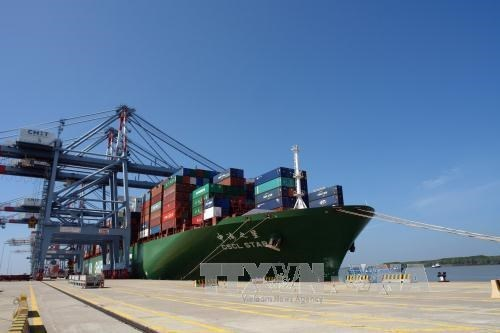 Premier vietnamita realiza visita de trabajo a puerto maritimo internacional de Cai Mep hinh anh 1