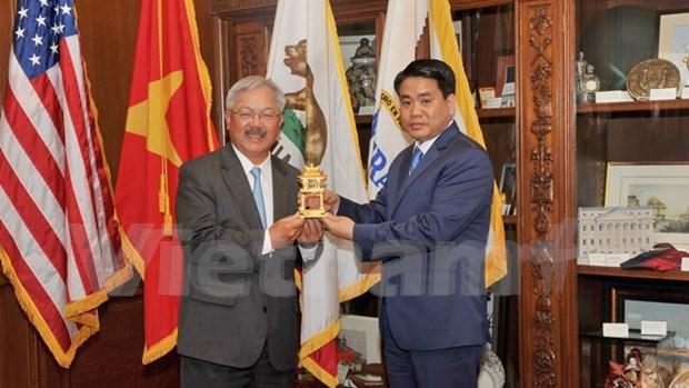 Hanoi desea cooperar con localidades de EE.UU. en ciencia y tecnologia hinh anh 1