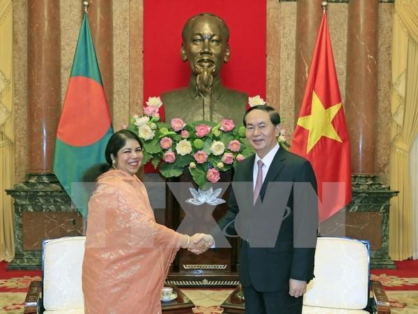 Presidente de Vietnam aspira a una mayor cooperacion con Bangladesh hinh anh 1
