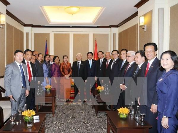 Dirigente partidista de Vietnam cumple intensa agenda de trabajo en Camboya hinh anh 1