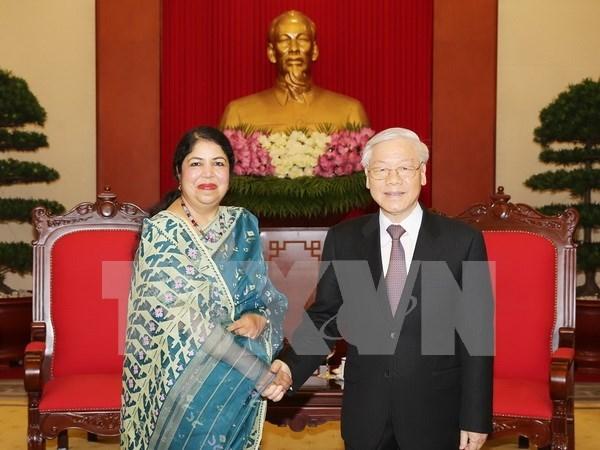 Maximo dirigente partidista vietnamita respalda nexos economicos con Bangladesh hinh anh 1