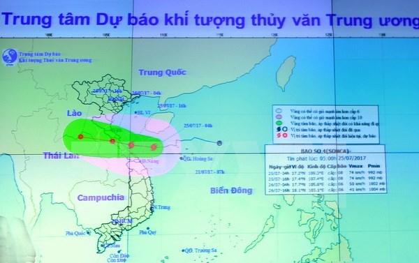 Pronostican fuertes lluvias en provincias centrovietnamitas por tifon Sonca hinh anh 1