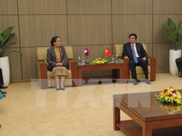 Oficinas parlamentarias de Vietnam y Laos fortalecen nexos hinh anh 1