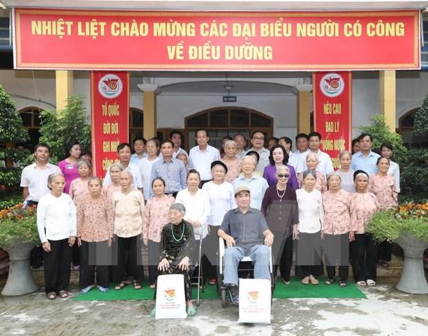 Dirigente partidista vietnamita reitera la atencion del Estado a invalidos de guerra hinh anh 1