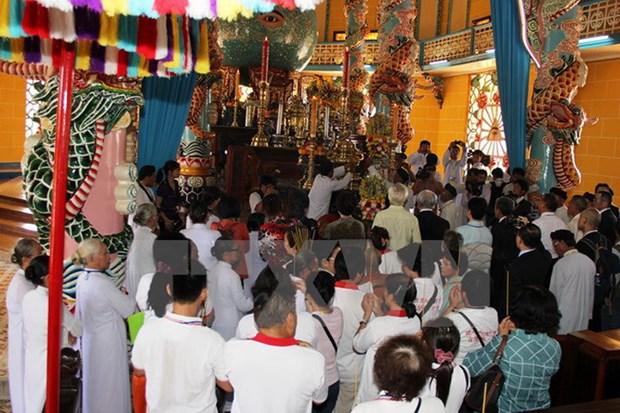 Un paseo a la tierra santa en Tay Ninh hinh anh 1