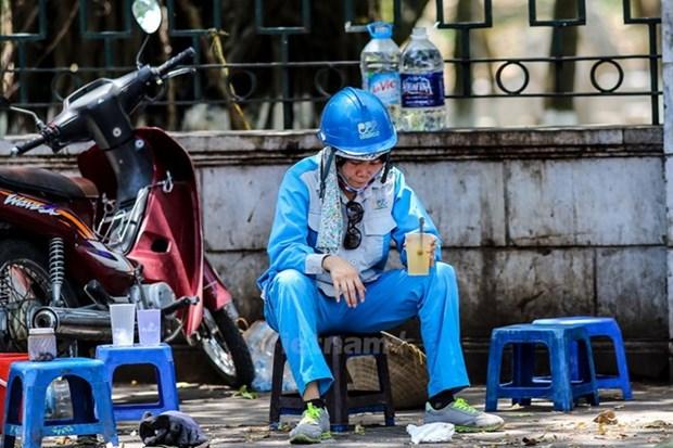 Intensa ola de calor abrasa region nortena de Vietnam hinh anh 1