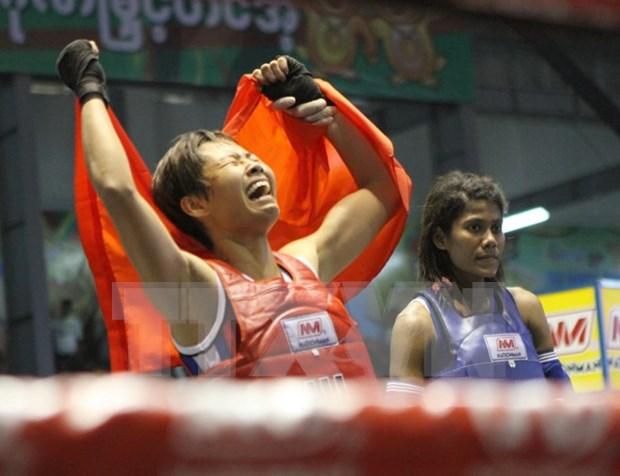 Luchadora vietnamita de Muay Thai gana medalla de oro en Juegos Mundiales hinh anh 1