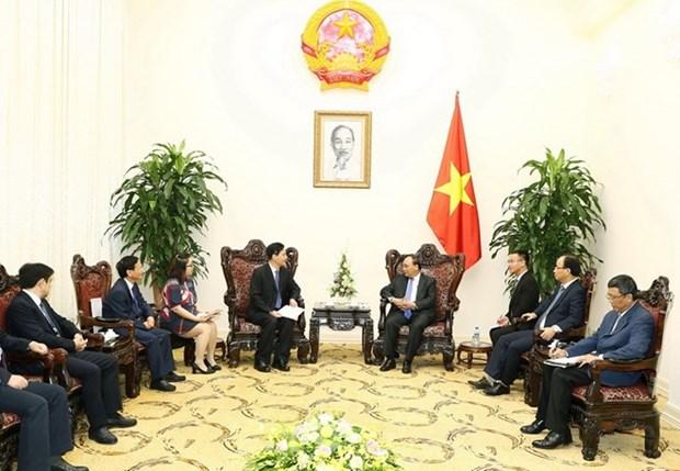 Premier vietnamita dialoga con dirigentes empresariales chinos hinh anh 1