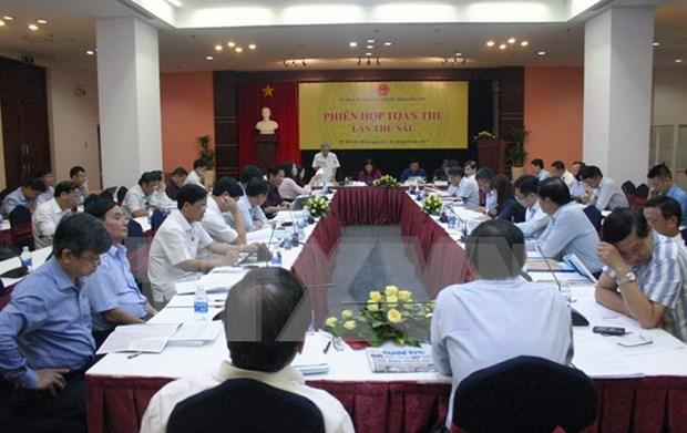 Comision del Parlamento vietnamita analiza enmiendas a ley de antecedentes judiciales hinh anh 1