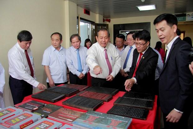 Vicepremier vietnamita pide promover en extranjero herencias documentales nacionales hinh anh 1