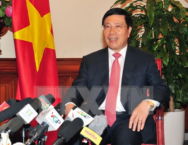 Vietnam propone fortalecer lazos multifaceticos entre paise del Bajo Mejong e India hinh anh 1
