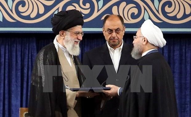 Enviado especial de Vietnam asiste a toma de posesion de presidente de Iran hinh anh 1