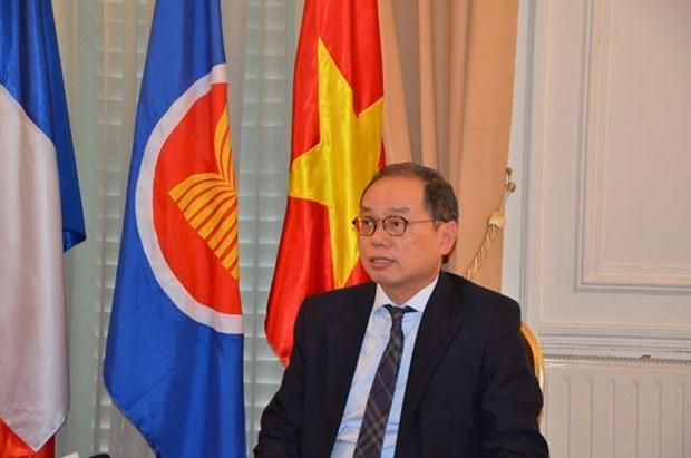 Vietnam cumple su mandato de presidente del Comite de ASEAN en Paris hinh anh 1