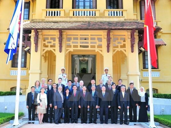 Vietnam celebra medio siglo de fundacion de ASEAN con ceremonia simbolica hinh anh 1
