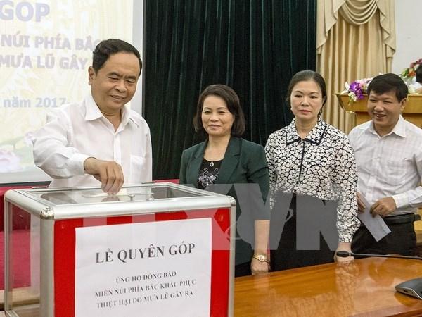 Continuan en Vietnam actividades de apoyo a victimas de inundaciones hinh anh 1